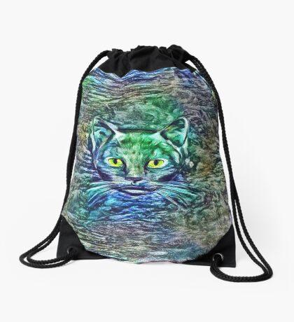 Maritime cat Drawstring Bag
