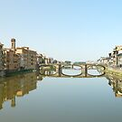 Florence from Ponte Vecchio by Gino Iori