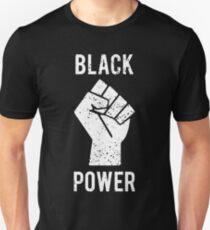 Black Power Fist White Unisex T-Shirt