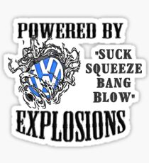 Vw Powered by Explosions Sticker