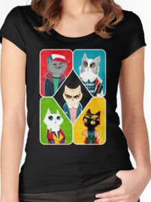 Stranger Cats Women's Fitted Scoop T-Shirt