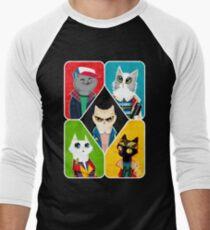 Stranger Cats Men's Baseball ¾ T-Shirt