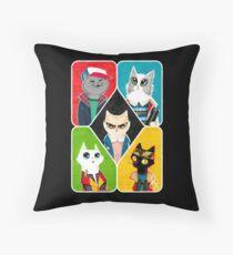 Stranger Cats Throw Pillow