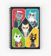 Stranger Cats Spiral Notebook
