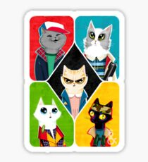 Stranger Cats Sticker