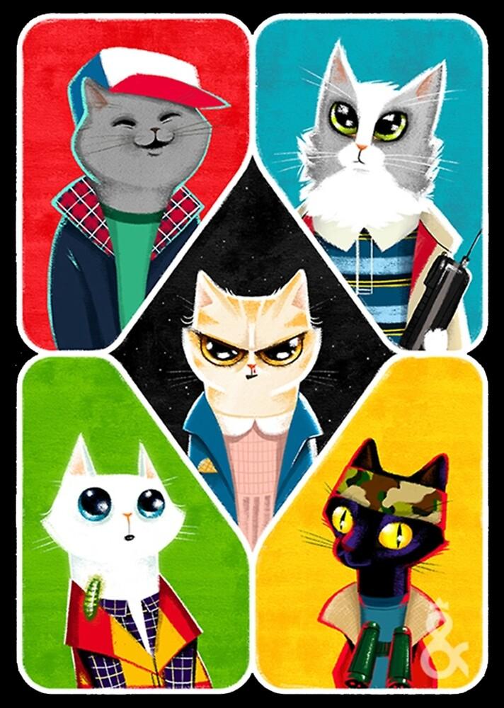 Stranger Cats by swadesy