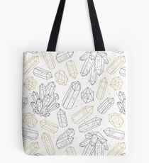 Crystals pattern black and gold Tote Bag