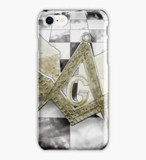 Masonic symbols iPhone Case/Skin