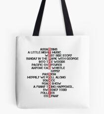 Stephen Sondheim musicals Tote Bag