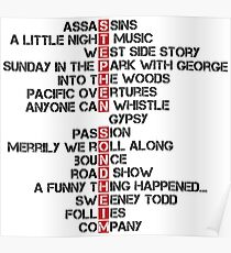 Stephen Sondheim musicals Poster