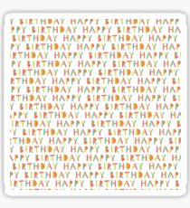 Happy birthday seamless pattern. Colorful  holiday background. Sticker