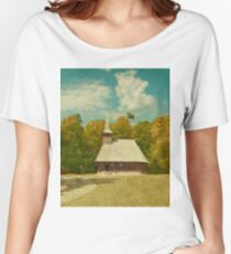 Astra Museum's curch, Sibiu Women's Relaxed Fit T-Shirt