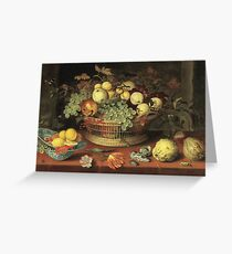 Balthasar Van Der Ast -Still Life Of Flowers Greeting Card
