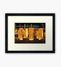 """""""Legends Plaza"""" Framed Print"""
