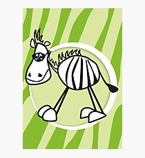 zorro the zebra Photographic Print