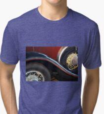 Detail of vintage car wheels Tri-blend T-Shirt
