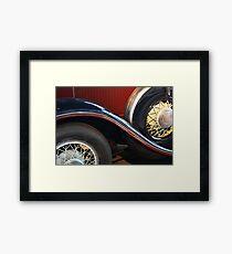 Detail of vintage car wheels Framed Print