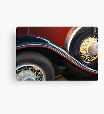 Detail of vintage car wheels Canvas Print