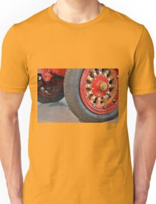 Detail of vintage car wheels Unisex T-Shirt