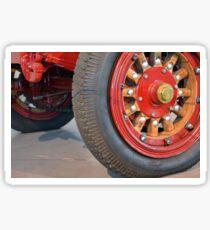 Detail of vintage car wheels Sticker