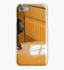 Close up on yellow vintage car iPhone Case/Skin