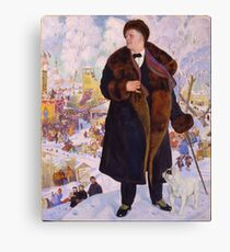Boris Kustodiev - Portrait Of Fyodor Chaliapin 1922 Canvas Print