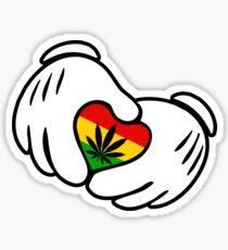 Rasta Weed hands Sticker