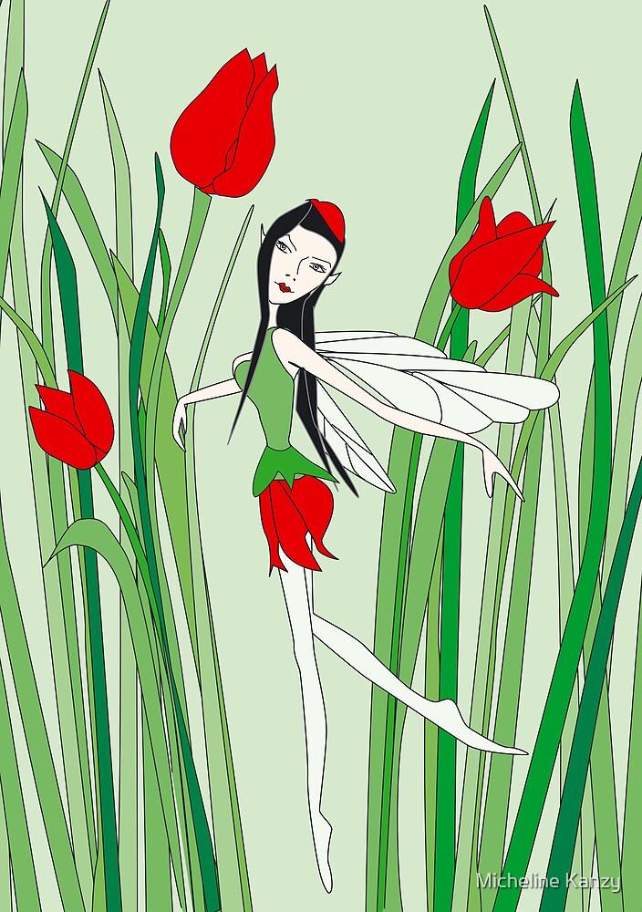 flower fairy tulip by Micheline Kanzy