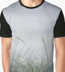 Stormy Sea Grass Graphic T-Shirt