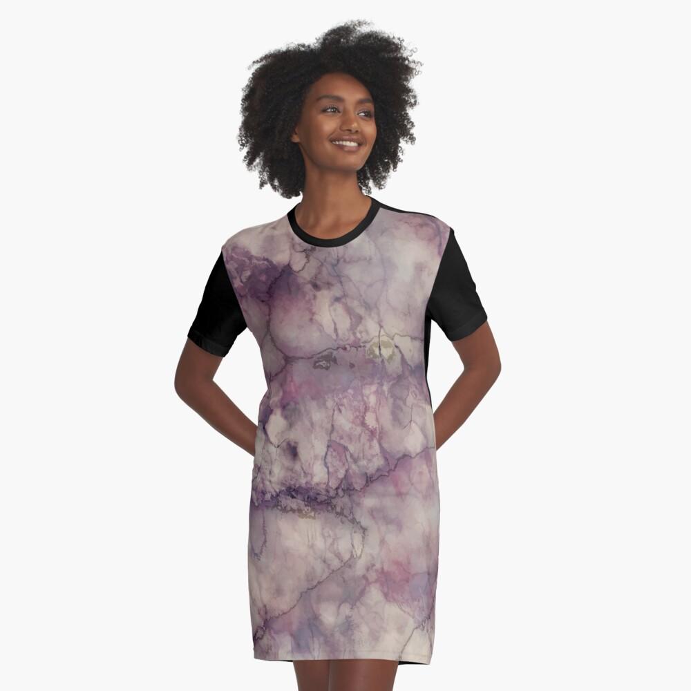 Marble Art V1 #redbubble #buyart Graphic T-Shirt Dress