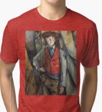 Camille Pissarro - Boy In A Red Waistcoat, 1888 Tri-blend T-Shirt