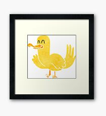 retro cartoon duck Framed Print