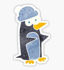 retro cartoon penguin Sticker