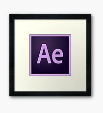 After Effects Logo Items! Framed Print