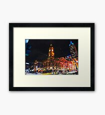 Melbourne Town Hall one Saturday night Framed Print