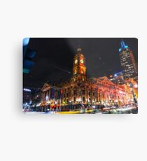 Melbourne Town Hall one Saturday night Metal Print