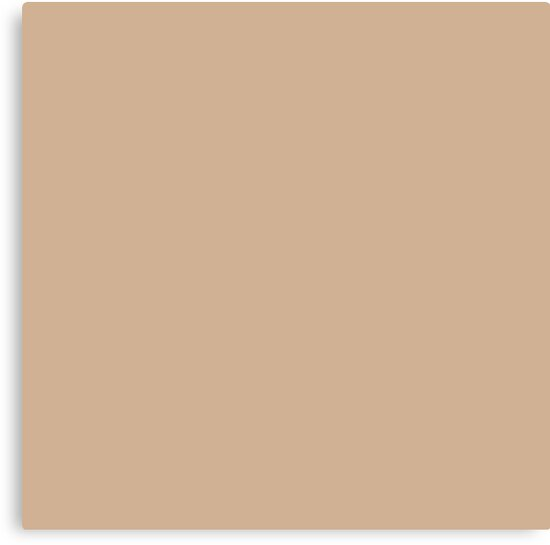 Hazelnut Tan Beige Solid Pantone Color Of The Year 2017 By THREAD TROUBLE