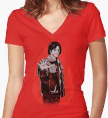 As He Breaks, So Shall It Break Women's Fitted V-Neck T-Shirt