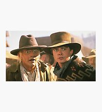 Marty and Doc 1885 Photographic Print