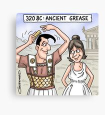 Ancient Grease Canvas Print