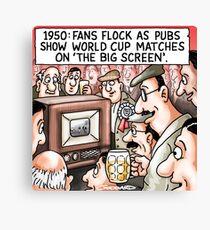 Big Screen Football Canvas Print