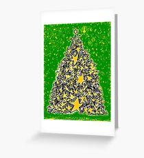 Star Tree Greeting Card