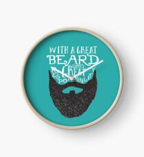 With a great beard comes great responsibility Clock