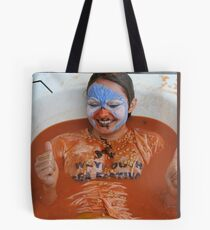 just taking a bath Tote Bag
