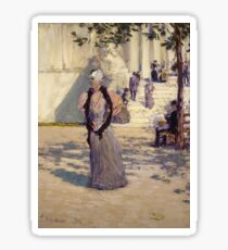 Childe Hassam - Figures In Sunlight (1893) Sticker