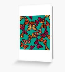 Hot Monarchs Greeting Card