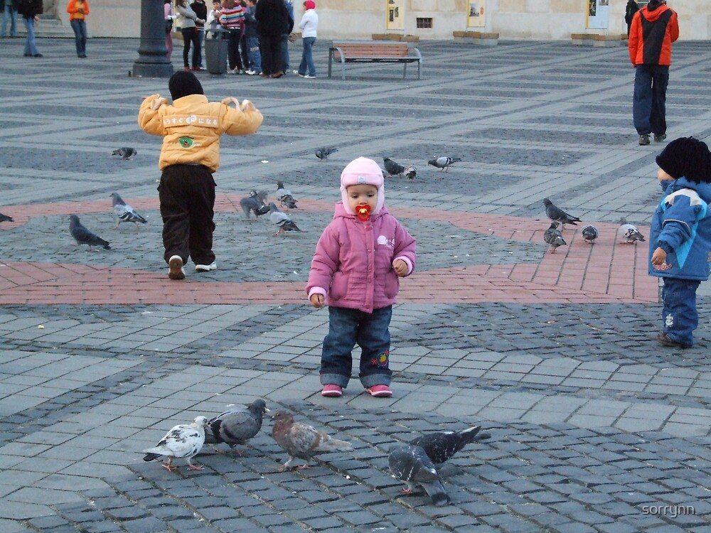 Feeding the pigeons by sorrynn