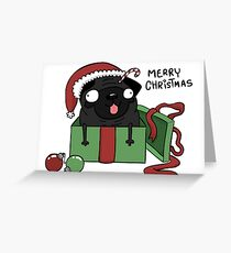 holiday Pug Greeting Card