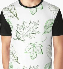 Green leaves) Graphic T-Shirt
