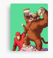 Diddy e Donkey Kong Canvas Print